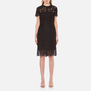 Diane von Furstenberg Women's Alma Lace Dress - Black