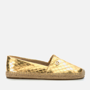 MICHAEL MICHAEL KORS Women's Kendrick Metallic Leather Slip-On Espadrilles - Pale Gold