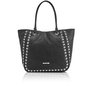 Love Moschino Women's Studs Tote Bag - Black
