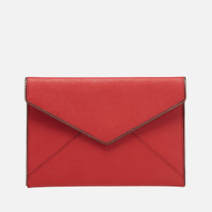 Rebecca Minkoff Women's Leo Clutch Bag - Blood Orange