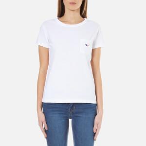 Maison Kitsuné Women's Fox Patch T-Shirt - White