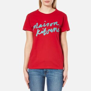 Maison Kitsuné Women's Handwriting T-Shirt - Red