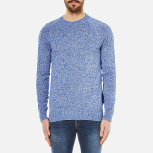 Barbour Men's Cotton Staple Crew Knitted Sweater - Bright Blue