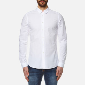 PS by Paul Smith Men's Long Sleeve Slim Fit Shirt - White