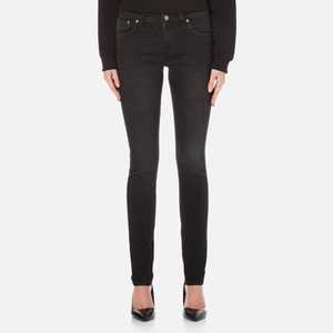 Nudie Jeans Women's Skinny Lin Jeans - Black Habit