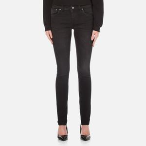 Nudie Jeans Skinny Lin Jeans - Black Habit