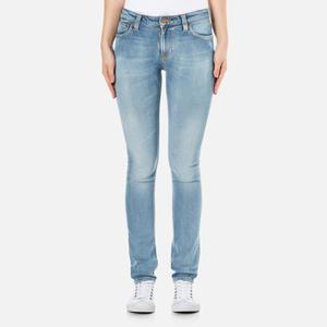 Nudie Jeans Skinny Lin Jeans - Clean Stone Indigo