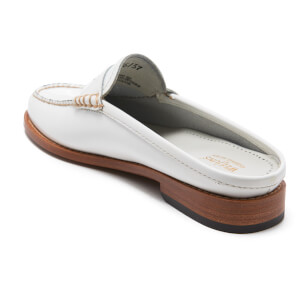 Bass Weejuns Women's Penny Slide Leather Loafers - White: Image 4