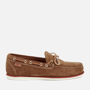 Bass Weejuns Men's Camp Moc Lite Decker Suede Boat Shoes - Tan