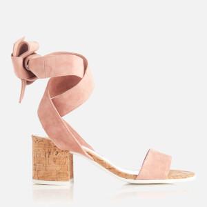 Dune Women's Jonee Suede Block Heel Sandals - Pink