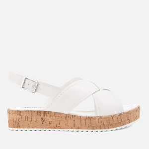 Dune Women's Kriss Leather Flatform Sandals - White