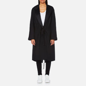 Alexander Wang Women's Parka Hybrid with Peak Lapel and Mesh Lining - Black