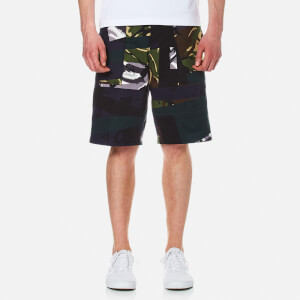 KENZO Men's Cotton Camo Shorts - Midnight Blue