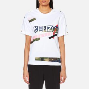 KENZO Women's Pima Cotton Jersey Logo T-Shirt - White
