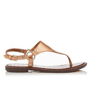 Sam Edelman Women's Greta Leather Toe Post Sandals - Platinum Pink Metallic