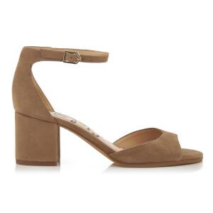 Sam Edelman Women's Susie Suede Blocked Heeled Sandals - Oatmeal