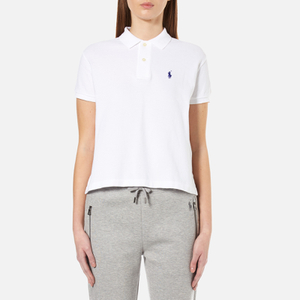 Polo Ralph Lauren Women's Short Sleeve Crop Polo Shirt - White