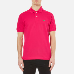 Lacoste Men's Short Sleeve Pique Polo Shirt - Fuchsia