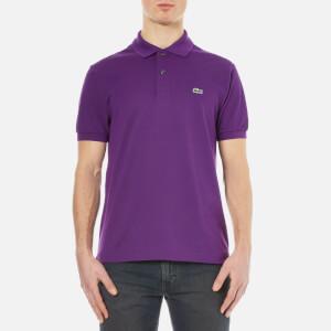 Lacoste Men's Short Sleeve Pique Polo Shirt - Cossak Purple