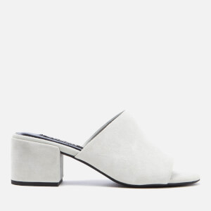Senso Women's Ray Suede Heeled Mule Sandals - Cloud