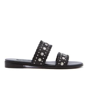 Senso Women's Edith Leather Double Strap Sandals - Ebony