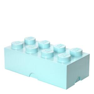 Ladrillo de almacenamiento LEGO (8 espigas) - Azul agua