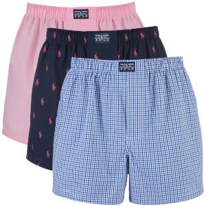 Polo Ralph Lauren Men's 3 Pack Boxer Shorts - Pink/Navy