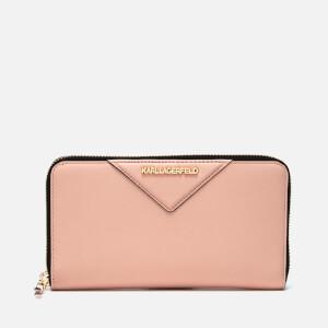 Karl Lagerfeld Women's K/Klassik Zip Around Wallet - Quartz
