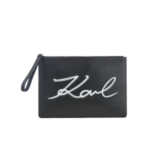 Karl Lagerfeld Women's K/Metal Signature Pouch - Black
