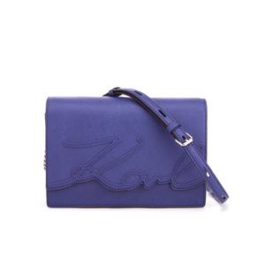 Karl Lagerfeld Women's K/Signature Shoulder Bag - Blue