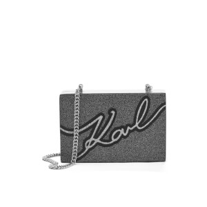 Karl Lagerfeld Women's Karl Signature Minaudiere Bag - Black