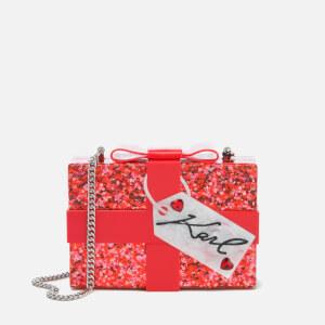 Karl Lagerfeld Women's Valentine Minaudiere Bag - Scarlet