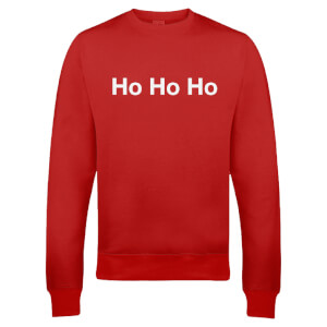 Festive Ho Ho Ho Christmas Sweatshirt - Red