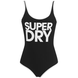 Superdry Women's Superdry Logo Swimsuit - Black