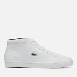 Lacoste Men's Straightset SP Chukka 117 1 Leather Mid-Top Trainers - White