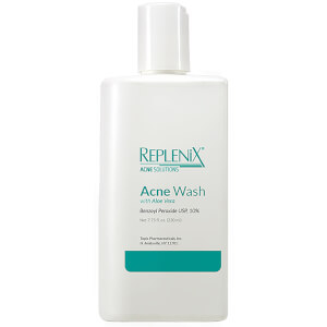 Replenix Acne Solutions Benzoyl Peroxide 10% Wash with Aloe Vera