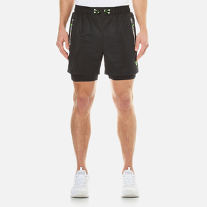 Superdry Men's Sports Active Double Layer Shorts - Monogrit Black