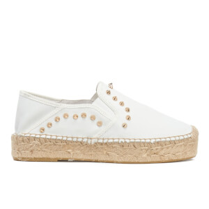 Ash Women's Xiao Leather Studded Espadrilles - White