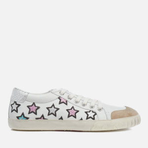 Ash Women's Majestic Star Print Trainers - Seta/White