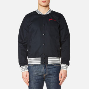 Maison Kitsuné Men's Teddy Bomber Jacket - Navy
