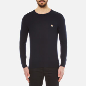 Maison Kitsuné Men's Merinos R-Neck Jumper - Navy
