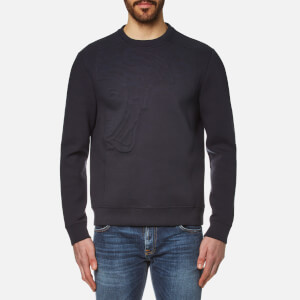 Versace Collection Men's Raised Logo Sweatshirt - Blu Scuro