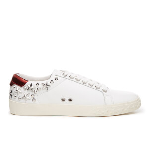 Ash Women's Dazed Nappa Calf Low Top Trainers - White/Red