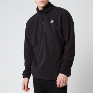 The North Face Men's 100 Glacier 1/4 Zip Fleece - TNF Black