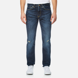 Edwin Men's ED-80 Slim Tapered Rainbow Selvedge Denim Jeans - Contrast Dark Wash