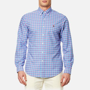 Polo Ralph Lauren Men's Custom Check Shirt - Blue