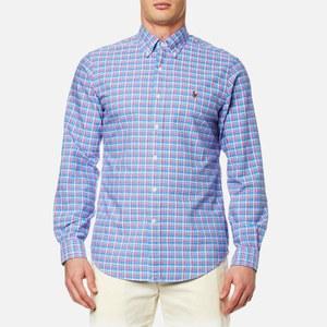 Polo Ralph Lauren Men's Custom Check Shirt - Blue
