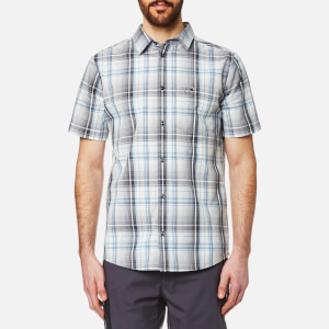 Jack Wolfskin Men's Hot Chili Short Sleeve Shirt - Dark Iron Checks