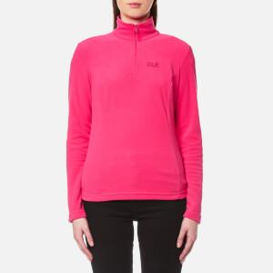 Jack Wolfskin Women's Gecko Half Zip Fleece - Tropic Pink
