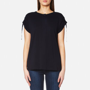 Helmut Lang Women's T-Shirt with Sleeve Detail - Midnight